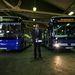 Nemecz Gábor, a BKV Zrt fejlesztési és beruházási igazgatója jelentette be a csuklós buszok hétfőtől kezdődő nyilvános utastesztjét.