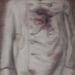 1914-1918 Az első világháború. Király András: Ferenc Ferdinánd szétlőtt kabátja megfestve