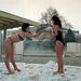 Bükfürdő 1987. január 25. Télen is több ezren keresik fel a gyógyvizéről híres forró vizű fürdőt. A bátrabbakat a mínusz tíz fok sem akadályozza meg egy kis hófürdőzésben.