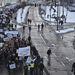 A Fővám térre vonultak át a tüntetők