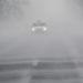 Autó halad a 38-as főúton Nyírtelek határában