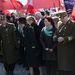 Katonazene szólt, és szinte több lengyel zászlót lehetett látni, mint magyart.