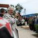 Knoll Gyula nyugalmazott repülős ezredes beszéde közben lehullt a faszoborról a lepel