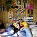 A rajongói klub két tagja együtt olvassa Putyin könyvét