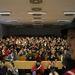 A diákok több előadót elfoglaltak az ELTE épületében, de így sem fértek el mindannyian.