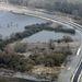 A 74-es út mentén elterülő belvízzel borított terület Nagykanizsa közelében