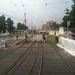 A 2-es villamos sínei a Lánchídnál