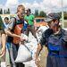 Erdélyből érkezett önkéntesek a 11-es főutat védő gát megerősítésén dolgoznak Dunabogdány közelében