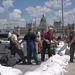 A Batthyány téren homokzsákokkal védik az aluljárót
