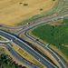 Közlekedési csomópont  az M0-s és a 11-es főút találkozásánál Budakalásznál