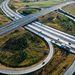 Közlekedési csomópont az M0-s és a 4-es főút találkozásánál Üllőnél
