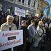 Székelyföldön 53 kilométeres menetoszloppal tiltakoztak a román közigazgatás átszervezése ellen, Székelyföld autonómiája mellett.