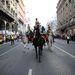 Hagyományos ünnepi lovasmenet az Astoriáról a budai Várba. A menetet lengyel szimpatizánsok kísérték, az Astoriánál pedig néhányan a Jobbik ellen kampányoltak.