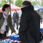 Szemerkényi Réka miniszterelnöki főtanácsadó, EP-képviselőjelölt meg gombát válogat.