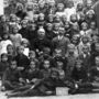 Magyarország, Halászi, római katolikus elemi iskola, csoportkép a III-IV. osztályról, 1921-22 tanév.