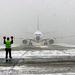 Marosvásárhely 2006. január 16. A Malév repülőgépe leszállás után. A légitársaság elindította első Boeing 737-es járatát a romániai Marosvásárhely repülőterére.