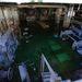 Talajvízzel elöntött alagsori gépészeti terem.