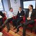 Chikán Attila, Pete Péter, Jaksity György és Oszkó Péter a Haza és Haladás konferenciájának panelbeszélgetésén.