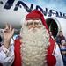 Két szarvas húzta, Finnair repítette.
