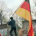 Német zászló a Brandenburgi kapunál, 1989. november 11.