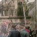 A falat a határnyitás után még napokig védték, ez a kép 1989. november 11-én készült a Potsdamer térhez közel.