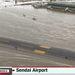 A szendai reptér víz alatt
