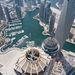 A dubai kikötő a világ legmagasabb lakóépületéből nézve.