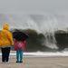 Hatalmas hullámok New Jersey-nél, órákkal a Sandy hurrikán érkezése előtt
