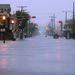 Víz alá került utca Atlantic Cityben, New York mellett.