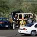 2002. október: Tucsonban, Arizona állam egyetemén egy 41 éves bukott diák lelőtte három tanárát, majd magával is végzett. a képen a férfi kocsiját vizsgálják át a rendőrök.