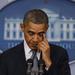 Barack Obama könnyeivel küzdve tartott sajtótájékoztatót.