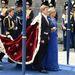 Vilmos Sándor holland király és felesége, Maxima királyné az amszterdami Nieuwe Kerk székesegyházban rendezett beiktatási ünnepségen