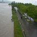 A Duna-sziget város felőli részén ki-kicsap a víz