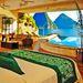 A St Lucia-i Anse Chastanet, Jade Mountain szobájából ki sem kell mozdulni, ha a Piti és a Gros Piton hegyekre vagyunk kíváncsiak.