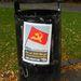 A kommunisták érdekes helyre ragasztottak plakátot.