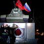 Tisztelgés a szovjet zászlónak
