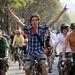 A hagyományos, tavaszi biciklis felvonuláson 35 ezer biciklista vett részt