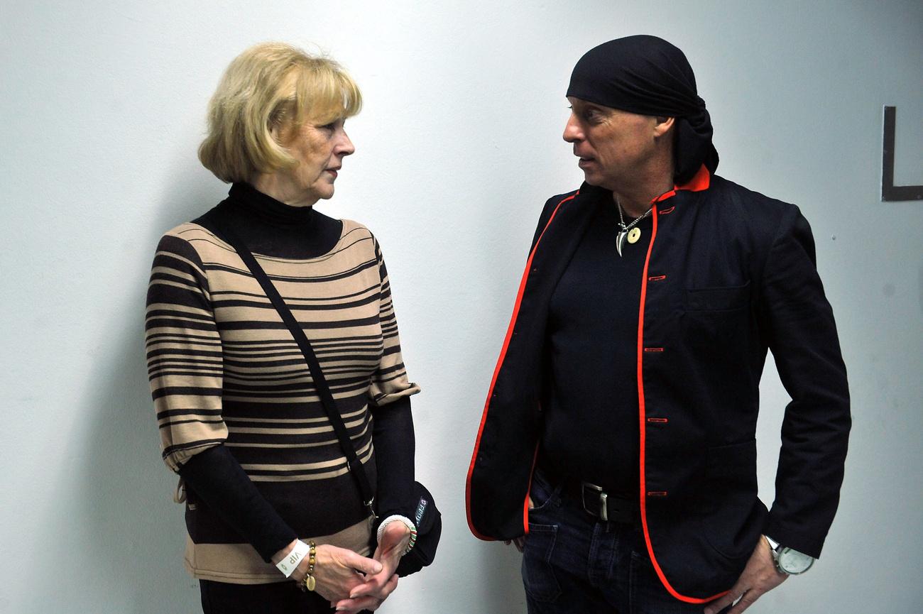 Az államfő felesége, Schmittné Makray Katalin és DJ Dominique