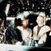 Peter Mayhew-val, mark Hamill-lal és Alec Guinnis-szel a Millennium Falcon jól ismert pilótafülkéjében, 1977-ben