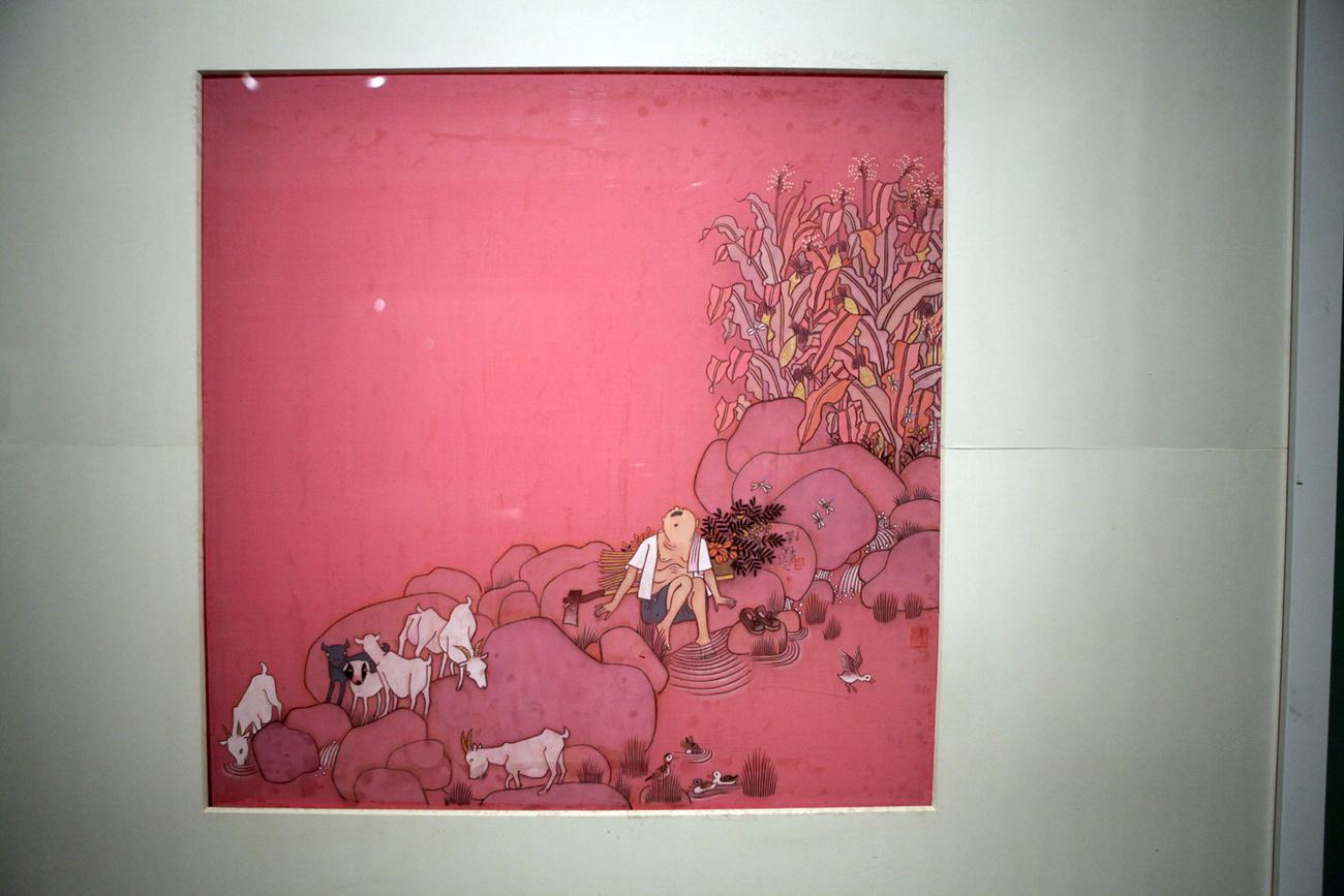 Aranypofák rúdon. A bécsi Mumok China, Facing reality című 2007-es kiállításáról.