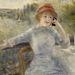 Alphonsine Fournaise telefonál Renoir képén