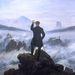 Caspar David Friedrich: Vándor a ködtenger felett nyomán