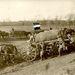 Első világháború, 1915, a német csapatok érkeznek a helyszínre, a zászlót utólag javították fel.