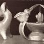 Gorka Géza kerámiái - Magyar Iparművészet 1929, balra a híres zöld szamár