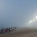 A késő délutáni futamoknak csak a befutóját lehetett szemlélni a sűrű ködtől