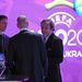 Michel Platini UEFA-elnök a 2012-es Eb-sorsoláson.