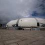 Az Estadio das Dunas falait a légáramlások miatt nyitották meg, az aréna homokdűnét formáz meg.