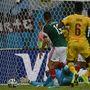 Herrera remek kiugratása után Dos Santos lövését még bravúrral védte Itandje, de a kipattanó Peralta elé került, aki 10 méterről belőtte.