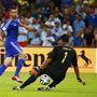 Történelmi gól. A bosnyákok első vb-gólja. Romero kapus lába között csorgott be a kilépő Ibisevics lövése.