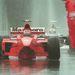 Az emlékezetes 98-as Coulthard-ütközés után, útban a boxba, behúzni egyet a skótnak